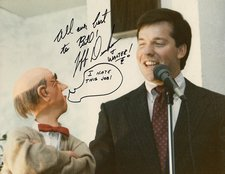02Jeff Dunham at Senor Wences testimonial luncheon. 4-2-1989. Photo by Bill Smith