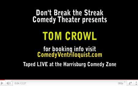 comedy club ventriloquist tom crowl