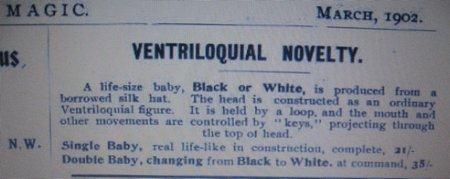 ventriloquist ad 1902