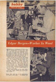 Edgar Bergen Ventriloquist and Worker in Wood