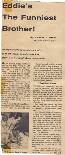 johnny carson article