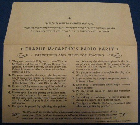 Charlie McCarthys Radio Party Game 002