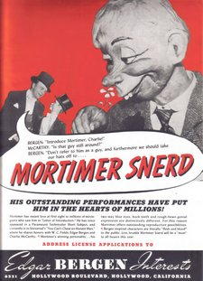 Mortimer Snerd licensing rights