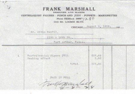 marshall invoice