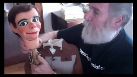 you tube ventriloquist central collection 1950s frank marshall nosey headstick