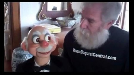 you tube ventriloquist central collection rene old man figure
